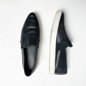 Vince Pierce Perforated Pointed Toe Slip Ons 8.5